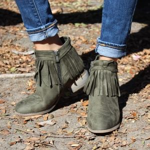 Shoes - 🆕️//The Geraldine// rustic green bootie
